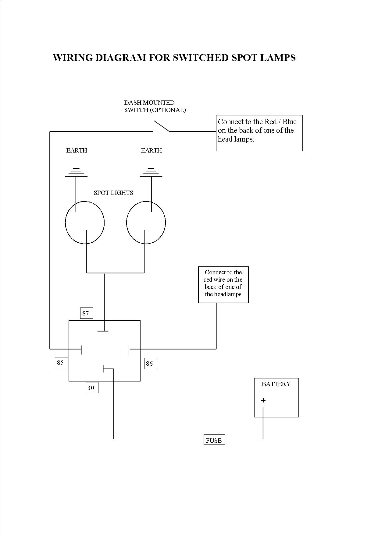 l200 spotlight wiring diagram spotlights with sidelights all wired up on front a bar 2003 saturn l200 heater wiring diagram